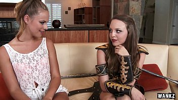 lesbians kinky salon Hayden strokes and gets caught then sucked off in a