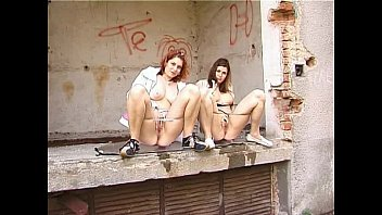 pee spycam piss japanese Lesbo clothed sluts get wet in the pool