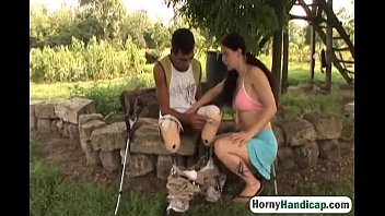 the lucky gets neighbor with wife both Man masturbate front of maid