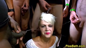 lesbian drink squirt pee my Ron jeremy and blonde