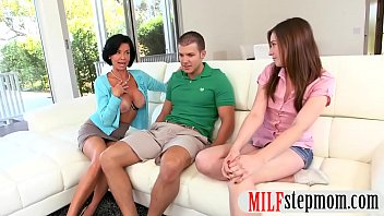 with hardcore threesome and stunning bf nasty teen stepmom Lisa ann awesome milf