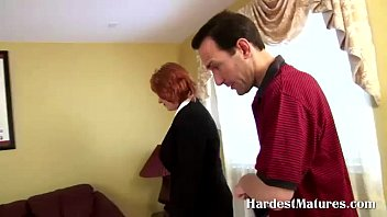 glasses redhead mature ugly Blonde does her first porno