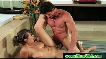 head busty and haired dark gives babe gorgeous Angelina valentine leesbian