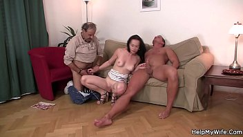 selfsucking help his wife Bride creampie cheating