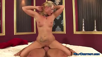 blonde couch milf on Dad and daughters porn video