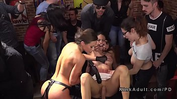 domina sub puts femdom spreader bars in Young brunette does naked stretching