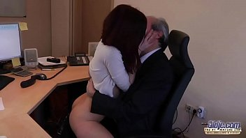 shy boss his fucking part1 is redheaded secretary Big fat creampie