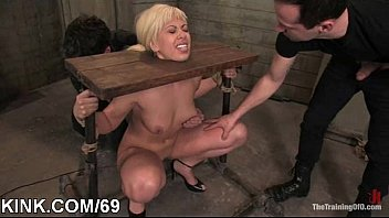 and abused secretary punished Homemade latin couple invite friends