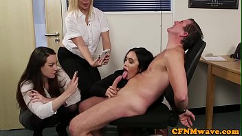 younger guy blowing older Police women available divine and sara jay