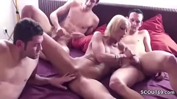 us son let strip play poker mother and H to suck a black big dick