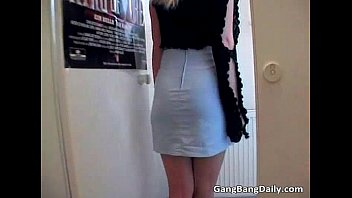 blonde a mom store hard sucking cock in Real message hidden cam