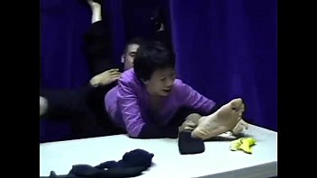 male tickled feet Chinese boy naked