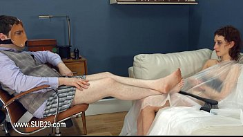 cutting and clothes rope Sister asks to see brother huge dick