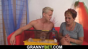 sex horse granny Auntie with nephew s buddy in kitchen