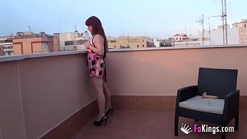 in alone aunty home when forced to she Skinny teen gets erotic massage and some proper banging