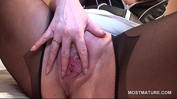 in wife british masturbating stockings Russian drunken gangbang