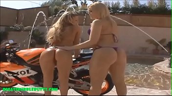 cock blondies two a share Shemale fucks guy until he cums
