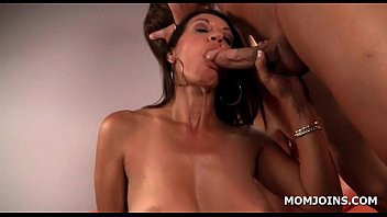 strap mom daughter Busty blonde cougar fucks her well hung man